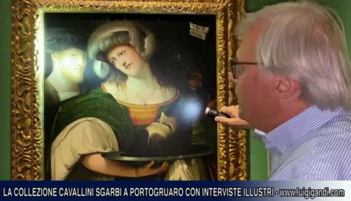 Sgarbi_alla_mostra_al_Palazzo_Vescovile_di_Portogruaro_e_intervista_a_Ermenegildo_Giusti